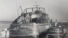 Sea Boarder with Jim Kroeger's grandparents Bill and Elsie Thompson, circa 1958