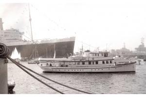 Canim welcoming Queen Mary to Long Beach, 1967