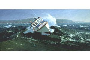 """""""Caught In the Surge"""", art by R. B. Dance (Flying Eagle)"""