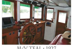 Teal wheelhouse