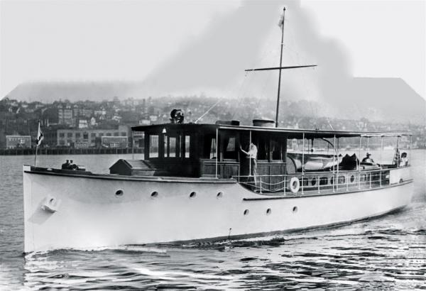 In Commencement Bay in 1930 with OLin, MAude and HAzel Neikirk (ergo OLMAHA)
