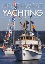 Blue Peter on NW Yachting cover