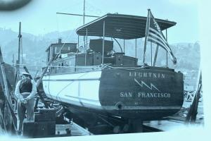 Oct. 12, 1940 hauled out for a survey at the Madden & Lewis yard in Sausalito. (Pat Pending)