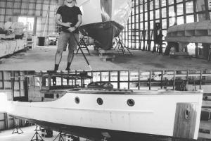 Resolute in Abreau Boatworks, Sept. 2019, before being destroyed by fire