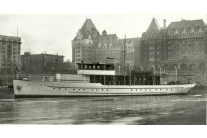 Sueja III (Now Marineer III) at Empress Hotel, Victoria, Canada