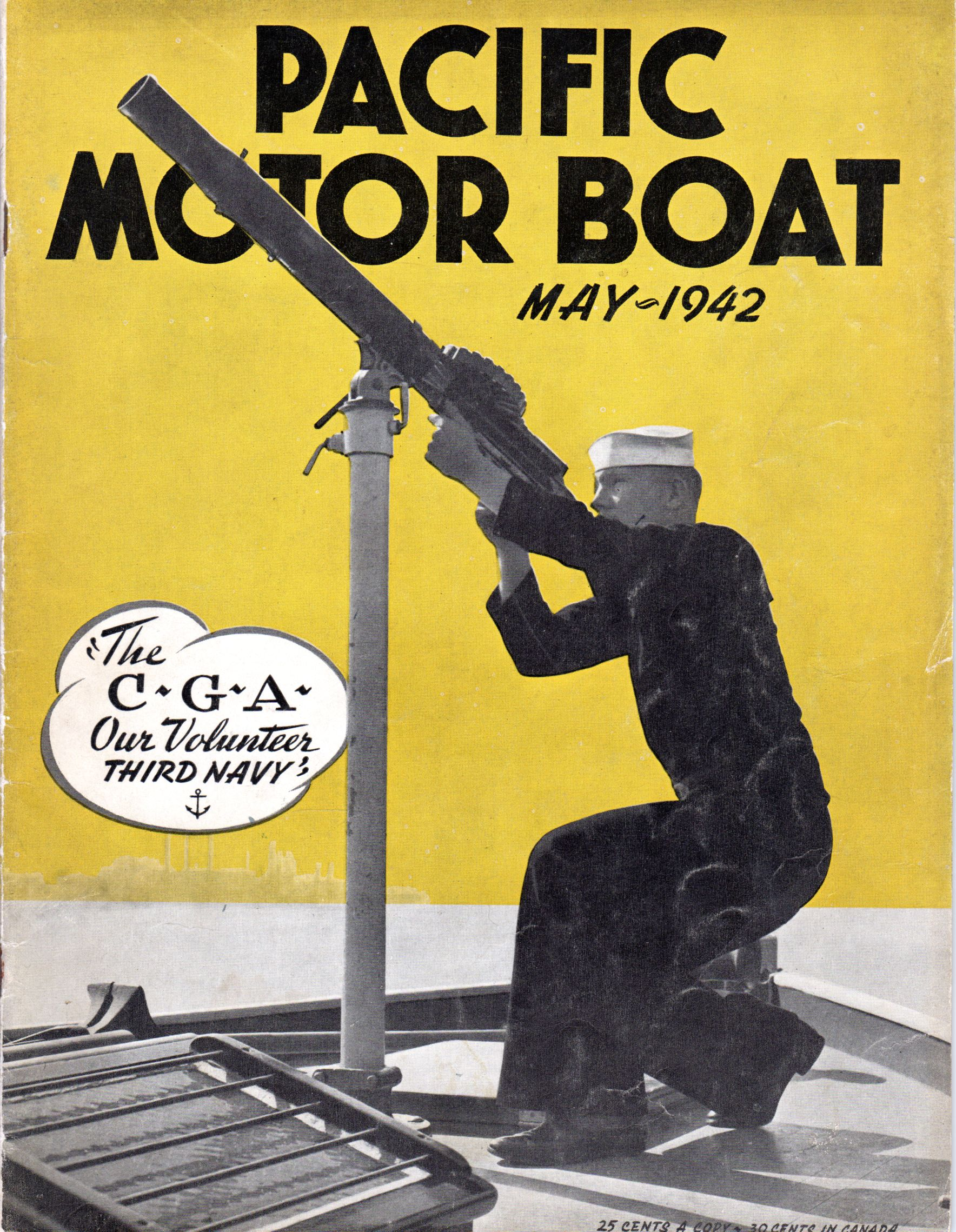 Pacific Motor Boat Magazine Wartime Cover