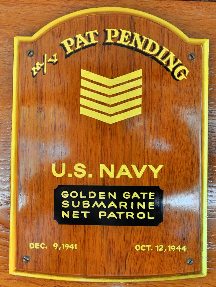 Pat Pending WWII Placque